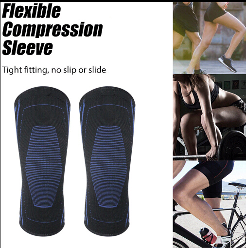 Knee Sleeve Compression Brace Support For Sport Joint Pain Arthritis Relief Breathable Material  Knee Sleeve 2PCS