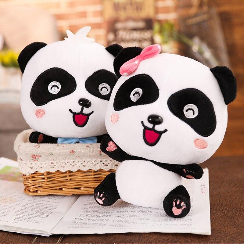 22cm Lovely Panda Plush Toys Soft Stuffed Couple Panda Dolls Kawaii Baby Accompany Nap Pillows Birthday Gift For Children Girl