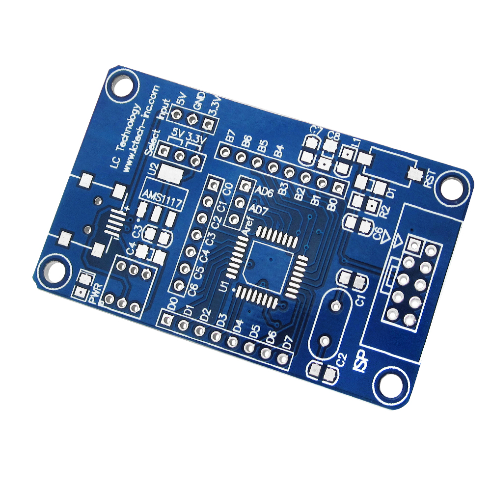Atmega8 48 88 168 Avr The Minimum System Core Board Development Universal Pcb Diy Circuit 8 X 12 Cm For Electronic Project Empty Plate