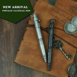 Nieuwe Rvs Tactische Pen Vintage Design Pen Bolt Schakelaar Etro Balpen Zelfverdediging Levert Edc Tool Gift