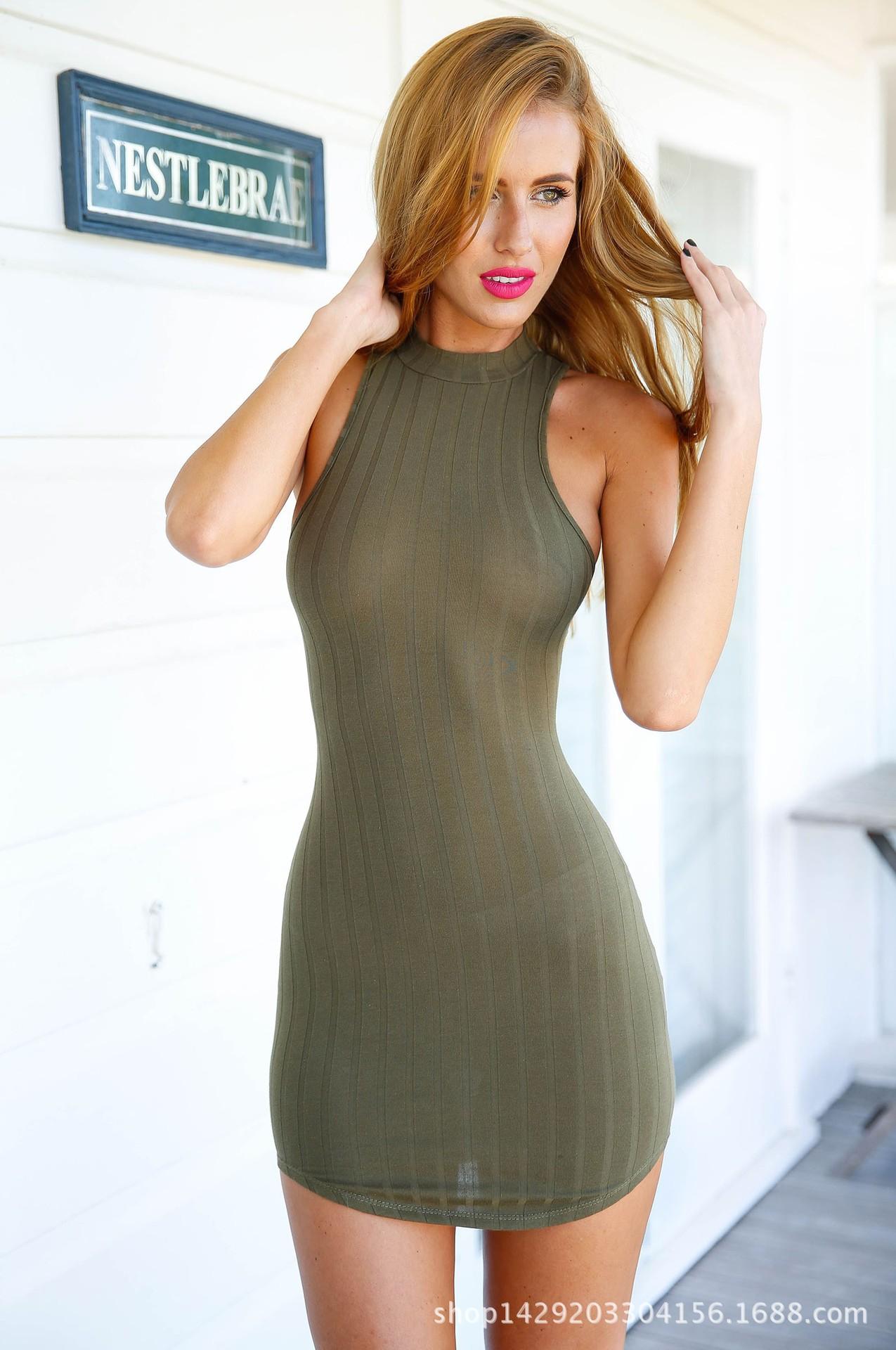 Euramerica Women Summer Dress Long Sleeve Saty Female -1718
