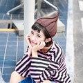 Зимние Шапки Для Мужчин/Женщин Весна Осень Вязания Шапочки Трикотажные Уникальный Лук Дизайн Шапки Новая Мода Gorro Теплый Капот Femme S7