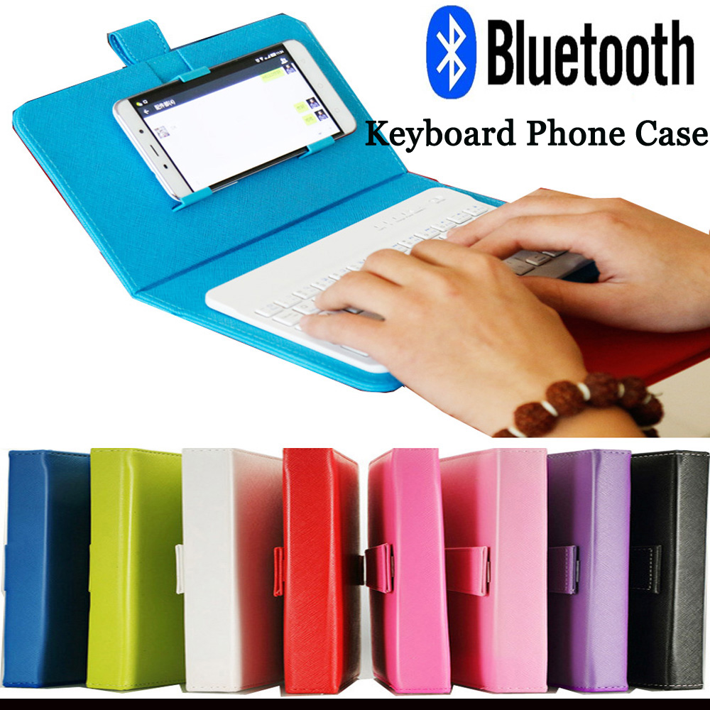 Phone Case With Bluetooth Wireless Mini Keyboard For Universal Iphone 6 Android Tablet Mobile Phone Cover