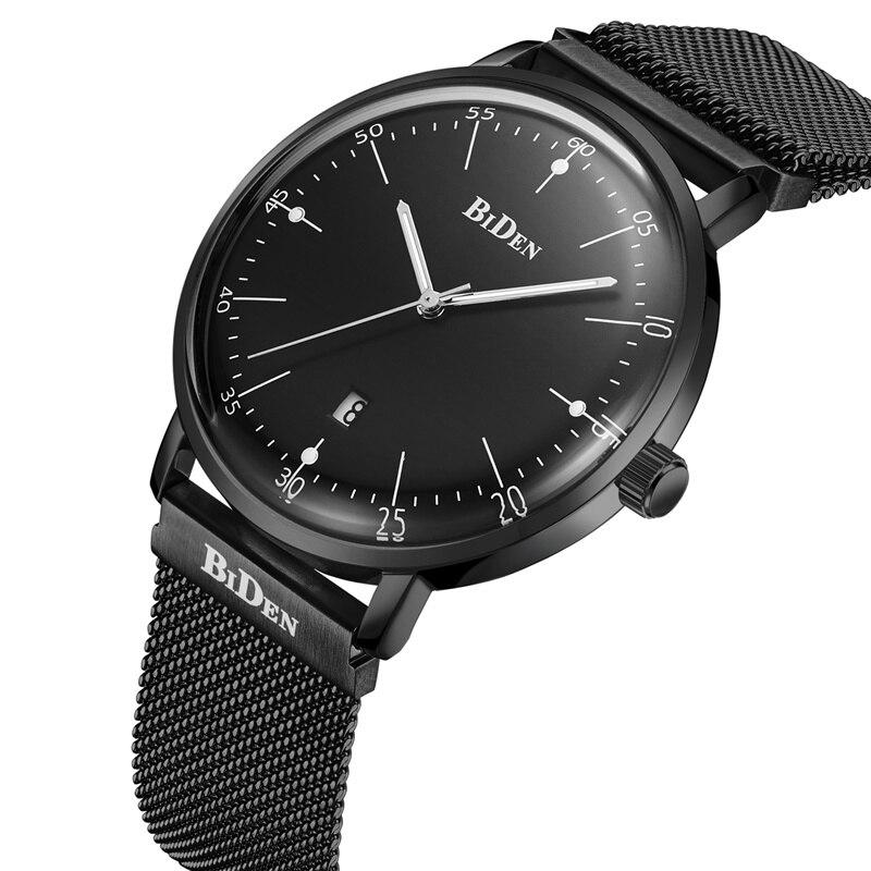 Элитный бренд часы для мужчин календари сталь сетка ремень бизнес кварцевые наручные Световой Магнит пряжка мужские часы со стрелками
