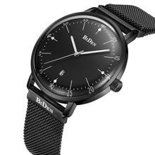 Luxury Brand Watches Men Calendar Steel Mesh Strap Business Quartz font b Wristwatch b font Luminous