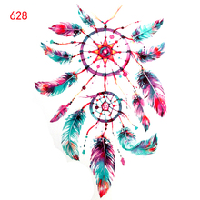 Big Dreamcatcher Temporary Tattoo stickers Taty Tatoo sticker Feather Tattoo Decals Body Art Waterproof Paper