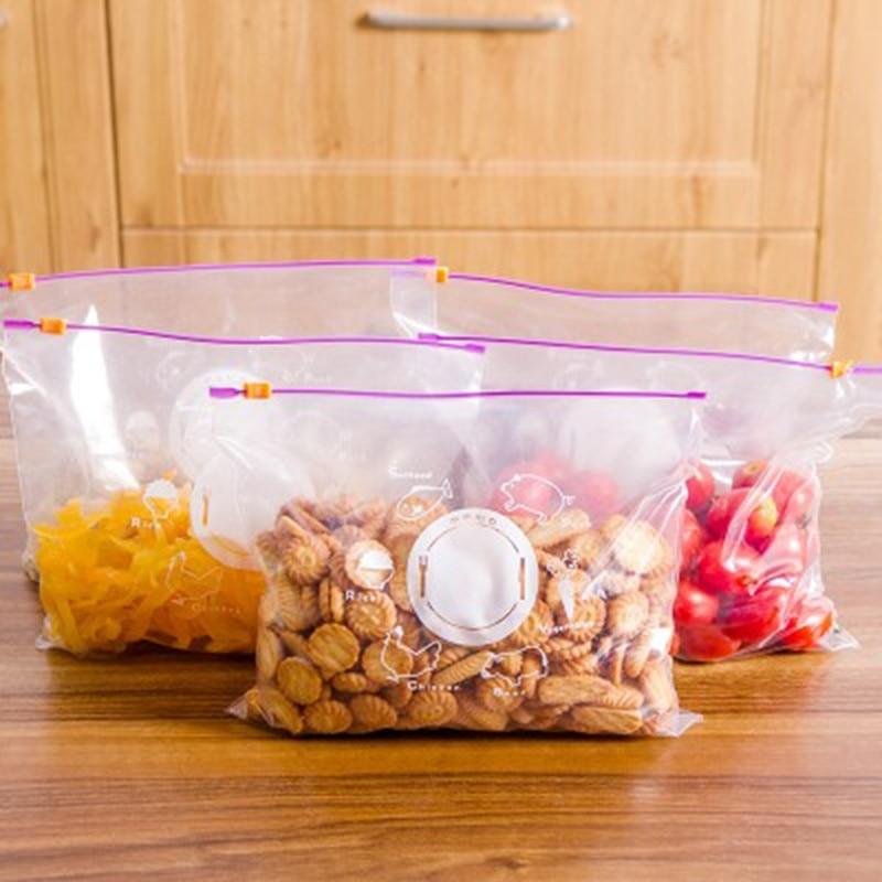 10Pcs/Lot Storage Zipper Bag Fresh Food Snack Clip Grip Coffee Plastic Clear Ziplock Reclosable Bag Travel Camping Gift Bags