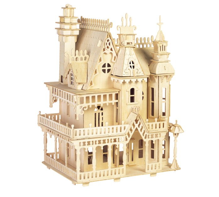 BOHS Victorian Dollhouse Toys Fantasy Villa 3D Puzzle DIY Scale Models and Building for Adult