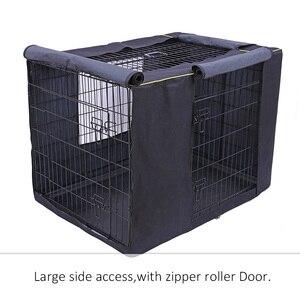 Image 4 - Capa impermeável para casa de cachorro, capa à prova de poeira e durável para gaiola de cães de oxford, dobrável, lavável, capa de cachorro