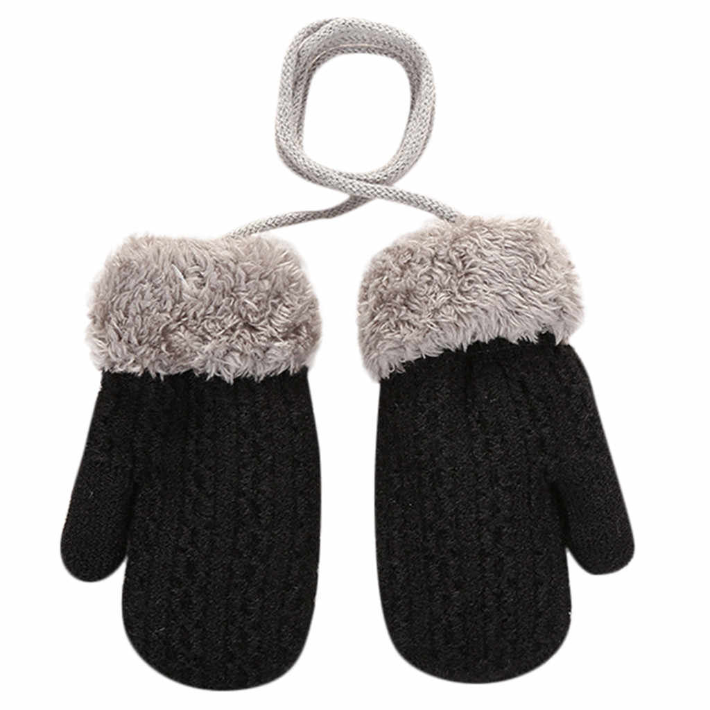 פעוט תינוק בנות בנים חיצוני חורף טלאים להתחמם כפפות כפפות