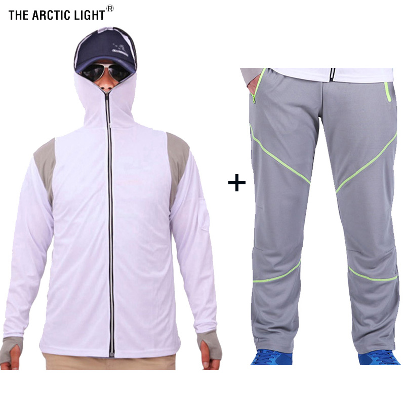 THE ARCTIC LIGHT Ultra Light Hooded Fishing Set Avoiding Mosquito Quick Dry Sun Protection Fishing Shirts&Pants Anti UV-in Hiking Shirts from Sports & Entertainment on AliExpress - 11.11_Double 11_Singles' Day 1