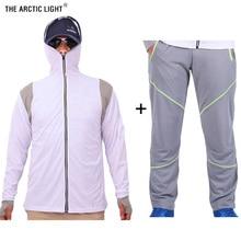 THE ARCTIC LIGHT Ultra-Light Hooded Fishing Set Avoiding Mosquito Quick Dry Sun Protection Shirts&Pants Anti-UV
