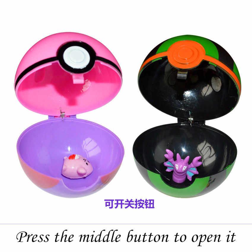 13 pçs/set Pokeball Com Pocket Monsters 1 Pedaço Aleatório Dentro do Ano Novo Presentes para Chidren Mini Pérola Figura Pikachu Squirtle brinquedos