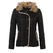 Winter Fashion Women Stand Collar Long Sleeve Quilted Zip-up Slim Jacket Coat Outwear New