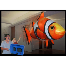 Tronzo 150cm Jumbo RC Air Swimming Shark Goldfish Inflatable Balloon Electric RC Inflatable Toys Birthday Gift For Kids Boy Girl