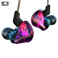 KZ New Fashion Colorful Hybrid Armature Dual Driver Earphone Detachable Cable In Ear Audio Monitors HiFi