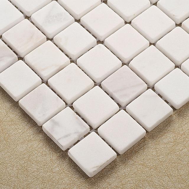 € 193.1 7% de réduction Carreaux de mosaïque en pierre naturelle blanche  HMGM2025 pour cuisine dosseret carrelage salle de bain douche couloir mur  ...