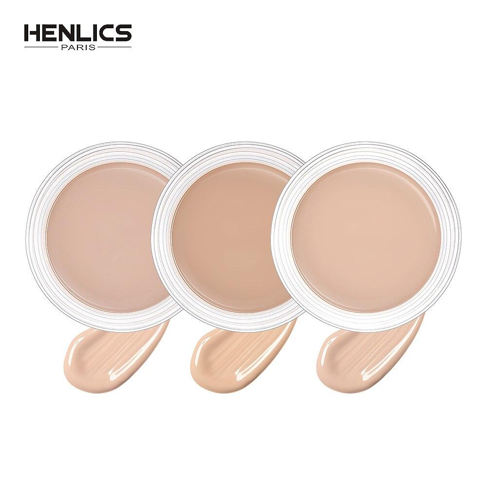 HENLICS Nude Makeup Concealer Primer Cream Contour Palette Isolation Block Defect Gel Cover Pore Blemish Balm Make Up Base