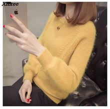 women casual knitwear 2018 autumn pullover o round neck long sleeve fashion winter pullovers Xnxee