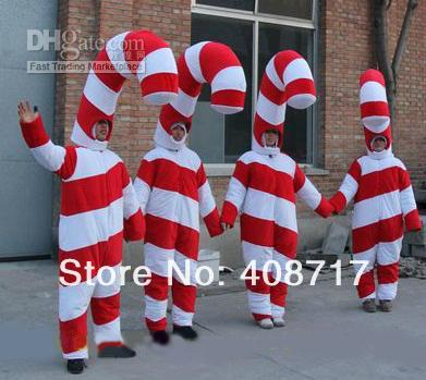 Candy Cane Party Decorations Amusing Hot Selling 2017 Adult Cute Christmas Candy Cane Mascot Costume Inspiration Design