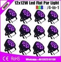 12 pcs/lots משלוח מהיר Tri-12 תלת RGB Slim Par אור LED שטוח Par