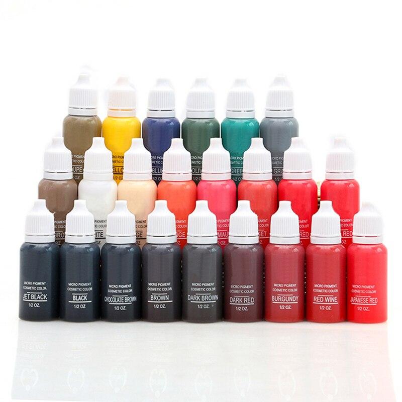 12 couleurs maquillage Permanent encre de tatouage Micro-pigment couleur 1/2 Oz Pigment Permanent tatouage I
