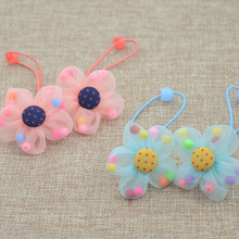 Hair-Accessories Scrunchy Flower Headband Girls Candy-Color Rubber Rabbit New-Fashion