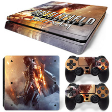 Free drop shipping video game sticker for PS4 slim console and two controller skin covers  #TN-P4Slim-1470