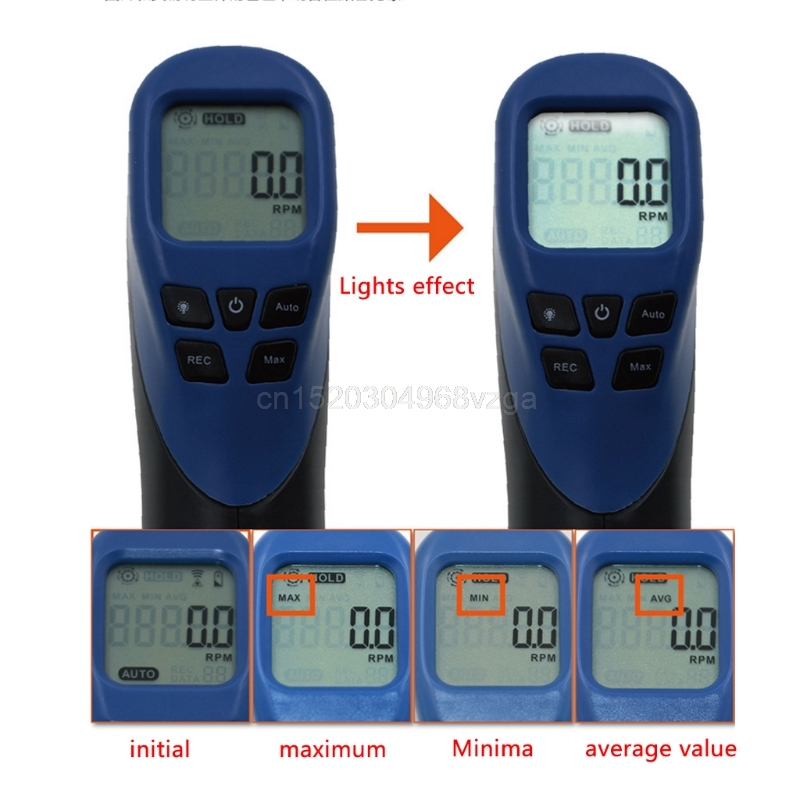Digital Tachometer Non-Contact Laser Photo Gun RPM Tach Tester Meter Speed Gauge D25 Drop shipping victor dm6235p digital tachometer