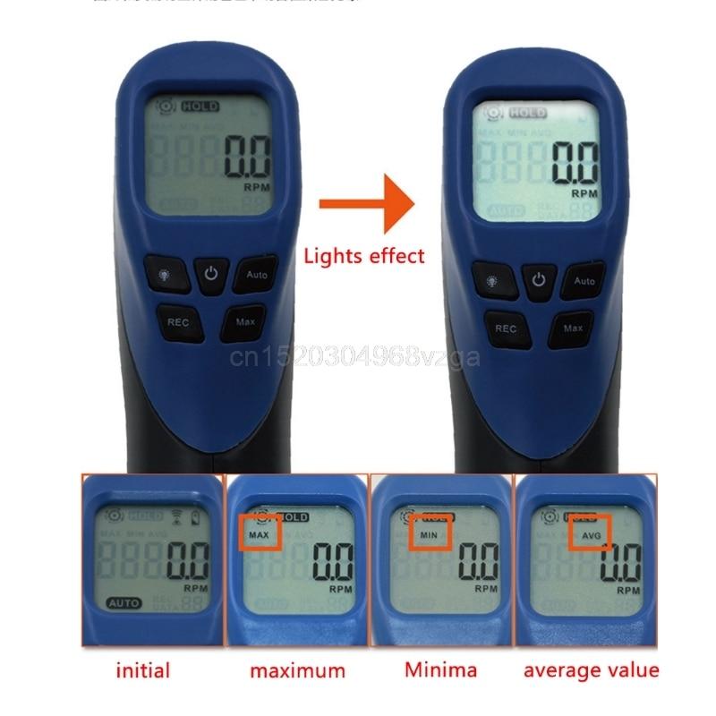 Digital Tachometer Non-Contact Laser Photo Gun RPM Tach Tester Meter Speed Gauge D25 Drop shipping