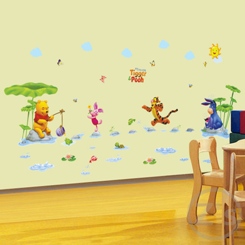 Aliexpress.com : Buy Winnie The Pooh Wall Sticker Home Decor Cartoon Wall  Decal For Kids Room Decal Baby Vinyl From Reliable Wall Decals Suppliers On  Zu0027s Part 6