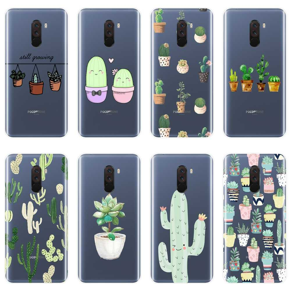 Back Cover Voor Xiaomi Redmi S2 6A 5 Plus 4A Cactus Siliconen Soft Phone Case Voor Pocophone F1 Xiaomi Note 4 4X5 5A 6 Pro Prime