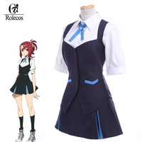 Anime giapponese Kiznaiver Takashiro Chidori Costumi Cosplay Girl School Uniform Donne Holloween Costumi