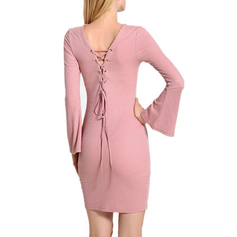 2018 femmes automne printemps robes Robe Sexy MINI gaine Slim moulante Robe à manches longues élastique élégant paquet Hip Vestidos