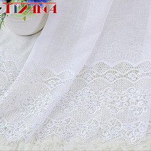 Luxury Embroidered Polyester Curtains for Living Room Window Bedroom Kitchen Customized Width Size PD005