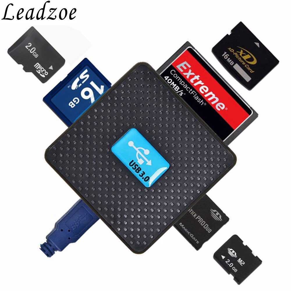 USB 3,0 lector de tarjetas todo en 1 Multi USB SD TF micro SD MS CF ...