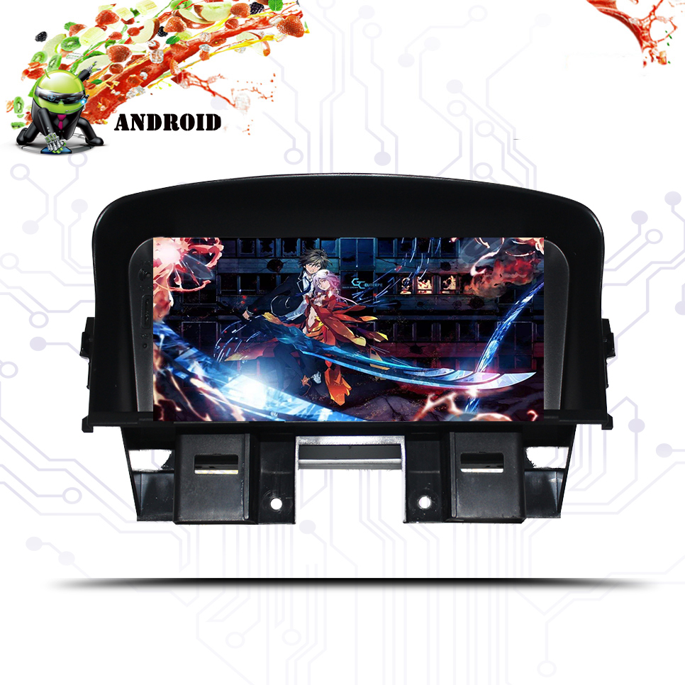 7 Inch HD LED Full Touch Screen Android 10.0GPS Navigation for <font><b>Chevrolet</b></font> <font><b>Cruze</b></font> 2008 2009-2012 2013 Stereo System with Bluetooth image