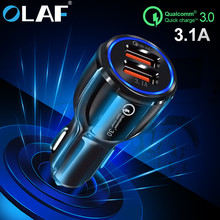 Olaf Car Charger Quick Charge 3 0 2 0 Mobile Phone Charger Fast Car Charger for iPhone XS Max Samsung 2 Port USB Phone Chargers cheap MEIZU LG Xiaomi Apple Nokia SONY Motorola Other Blackberry Samsung HTC Lenovo Huawei Universal Qualcomm Quick Charge 3 0 Qualcomm Quick Charge 2 0