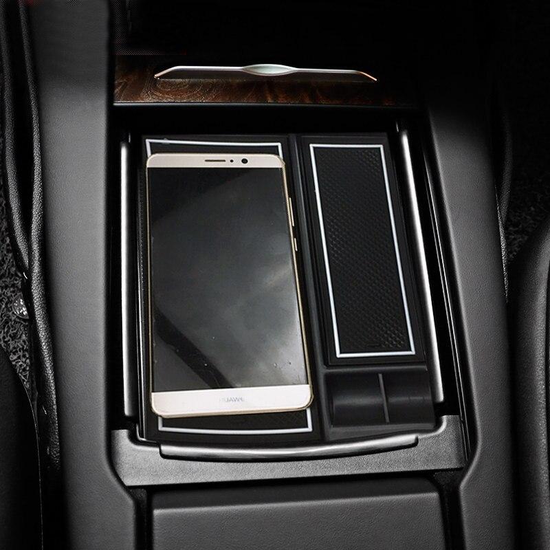 Центральный подлокотник ящик для хранения бардачок уборки контейнер Автомобильный держатель для укладки аксессуары для Тесла модель x ...