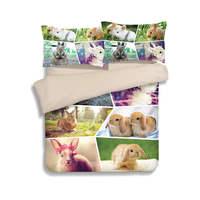 Милый кролик 3D печатных одеяло Постельное бельё Твин Полный Queen King Размеры Стёганое одеяло/Набор пододеяльников для пуховых одеял 3 шт. Для д