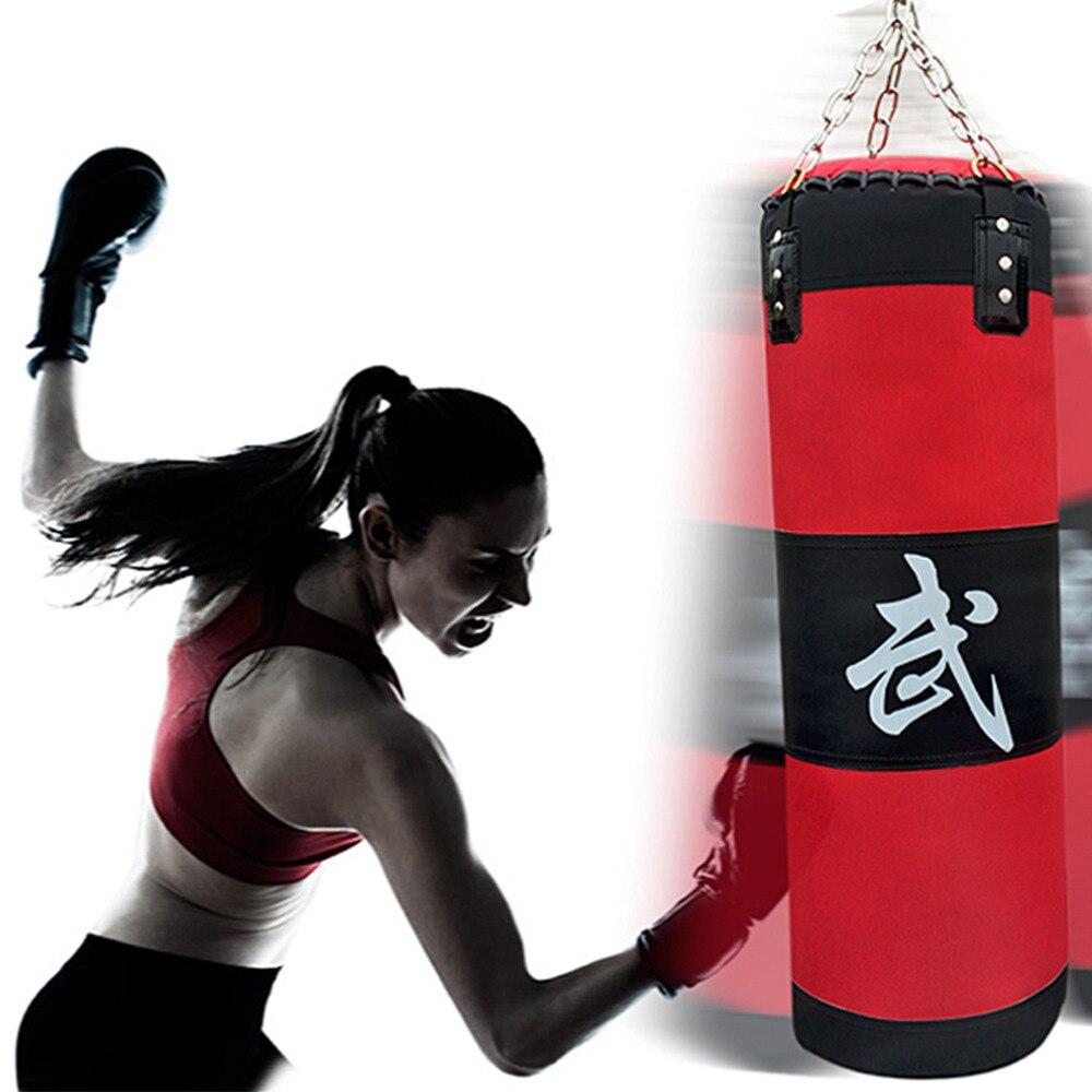 70 cm sandbag VUOTA Formazione Fitness MMA Boxing Bag Gancio Appeso Calcio Lotta Bag Sand Punch Bag Sacchetto di Sabbia di trasporto libero