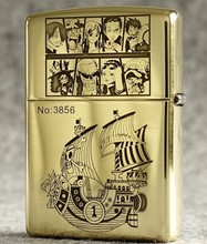 One Piece Luffy Silhouette Lighter Zippo Double Engraved