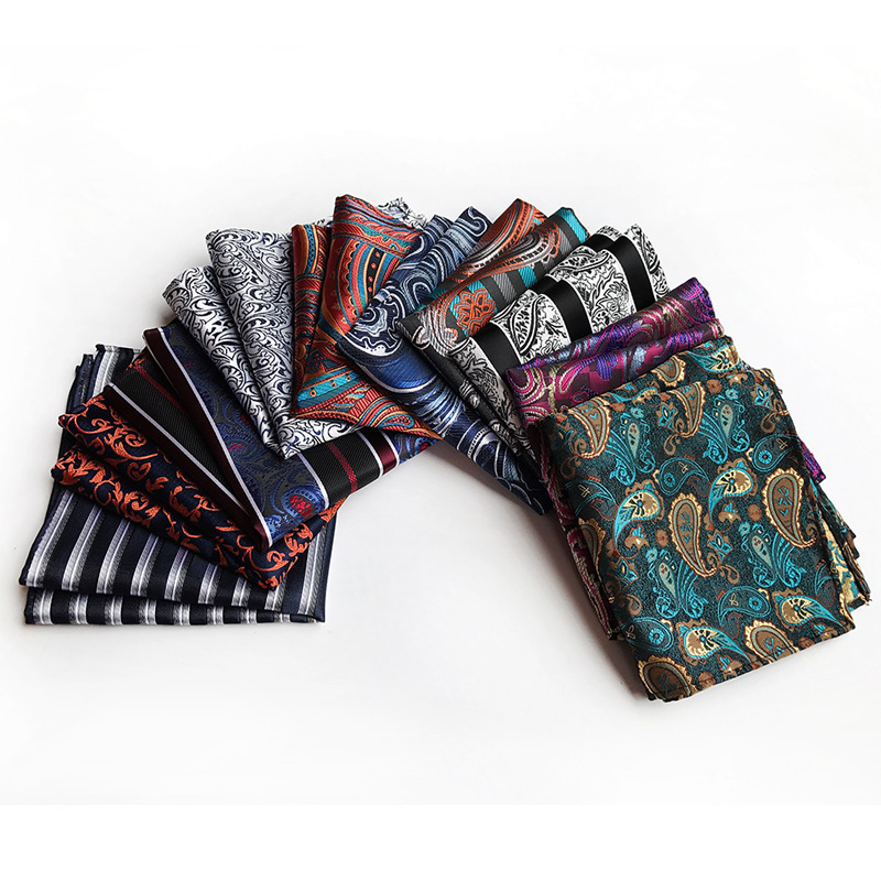 Unique Design Business Men's Quality Handkerchief Pocket Towel 2019 Explosion Polyester Fashion Paisley Big Flower Pocket Towel