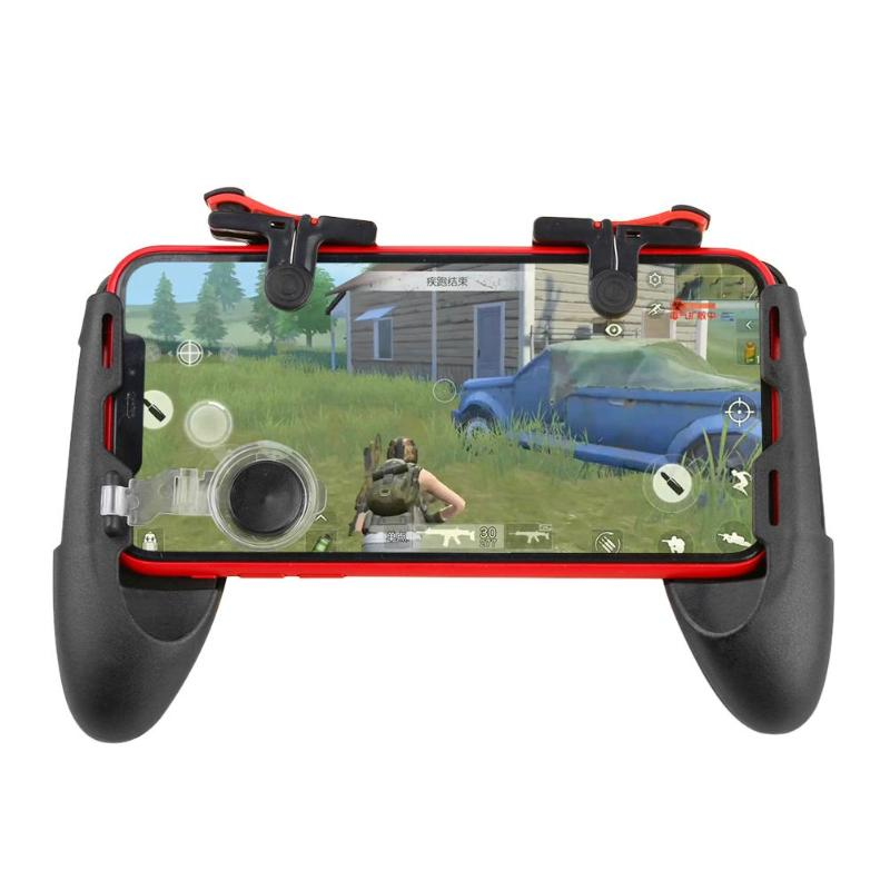 3 in 1 Mobile Gamepad Controller for PUBG Joystick Trigger Fire Button Key with Phone Holder Bracket for PUBG Game