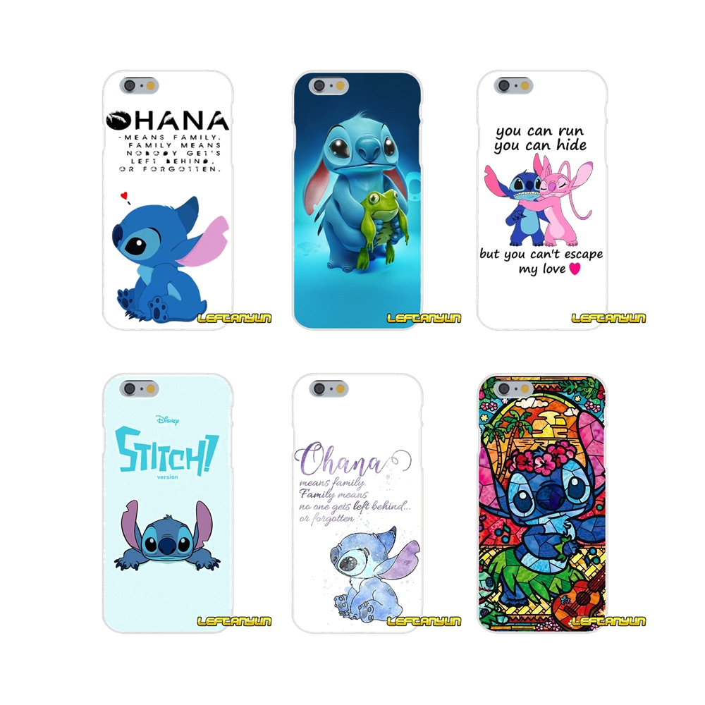 Lilo and Stitch Quote Ohana Means Family Slim phone Case For Huawei G7 P8 P9 p10 Lite 2017 Honor 5X 5C 6X Mate 7 8 9 Y3 Y5 Y6 II