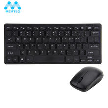 MEMTEQ 2.4G Wireless Keyboard And Mouse Kit Keypad Ultra-Slim With USB Receiver For Smart TV PC Laptop Computer Accessories