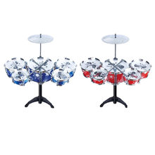 Intelligence Christmas Gift Children Toys Drum Set Boys Girls Blue And Red For Choose Play Music Develop(China)