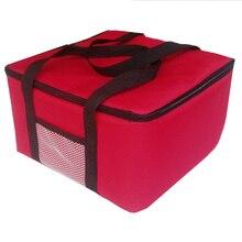 12 นิ้วพิซซ่าฉนวนกระเป๋าขนาดใหญ่ Thermal Cooler กระเป๋าอาหาร 40x40x29cm