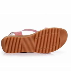 Image 5 - GKTINOO 2020 Genuine Leather Women Sandals Fashion Summer Sweet Women Flats Heel Sandals Ladies Shoes Plus Size 33 43
