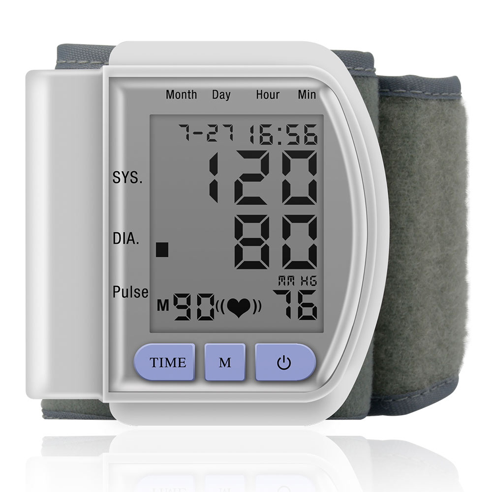 Medical Wrist Blood Pressure Monitor AutomaticTonometr Measurement Tensiometro Digital Bp Heart Rate Monitor Sphygmomanometer image